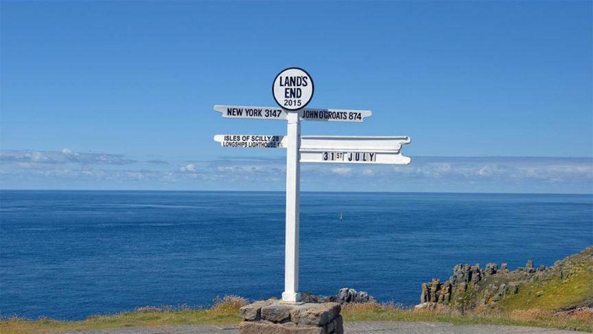 Sign post at Lands End