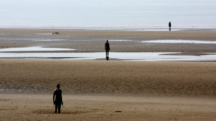 Crosby parkrun Another Place by Antony Gormley