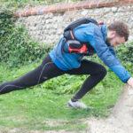 Runner with cramp