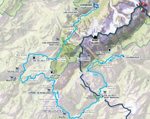 New TDS route UTMB