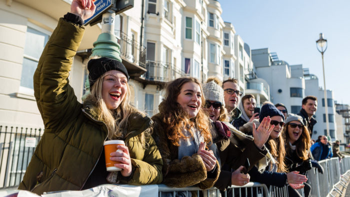 Spectators Brighton Half