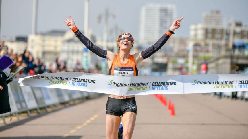 Helen Davies Brighton Marathon copyright Edward Bishop