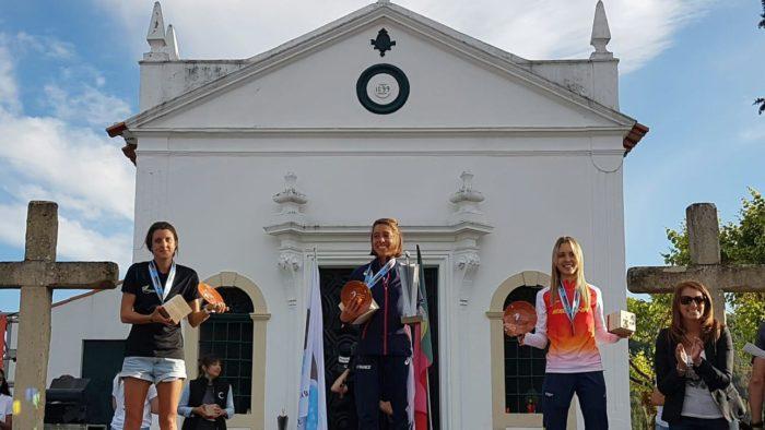 Women's podium Trail World Championships