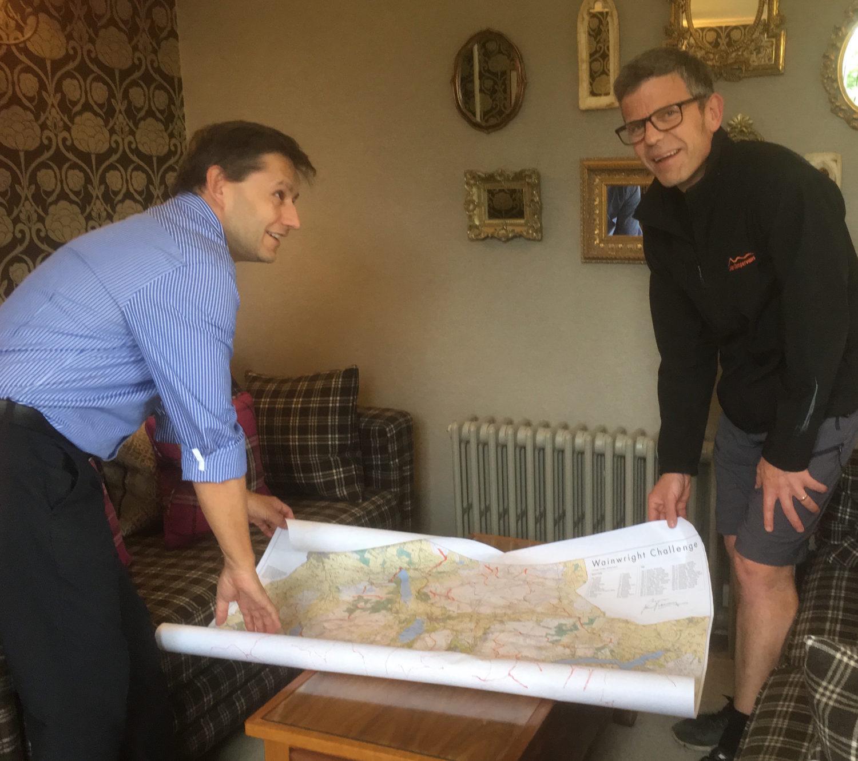 Wainwrights map