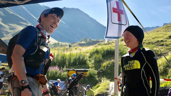 Sergio with Lizzy Hawker UTMB