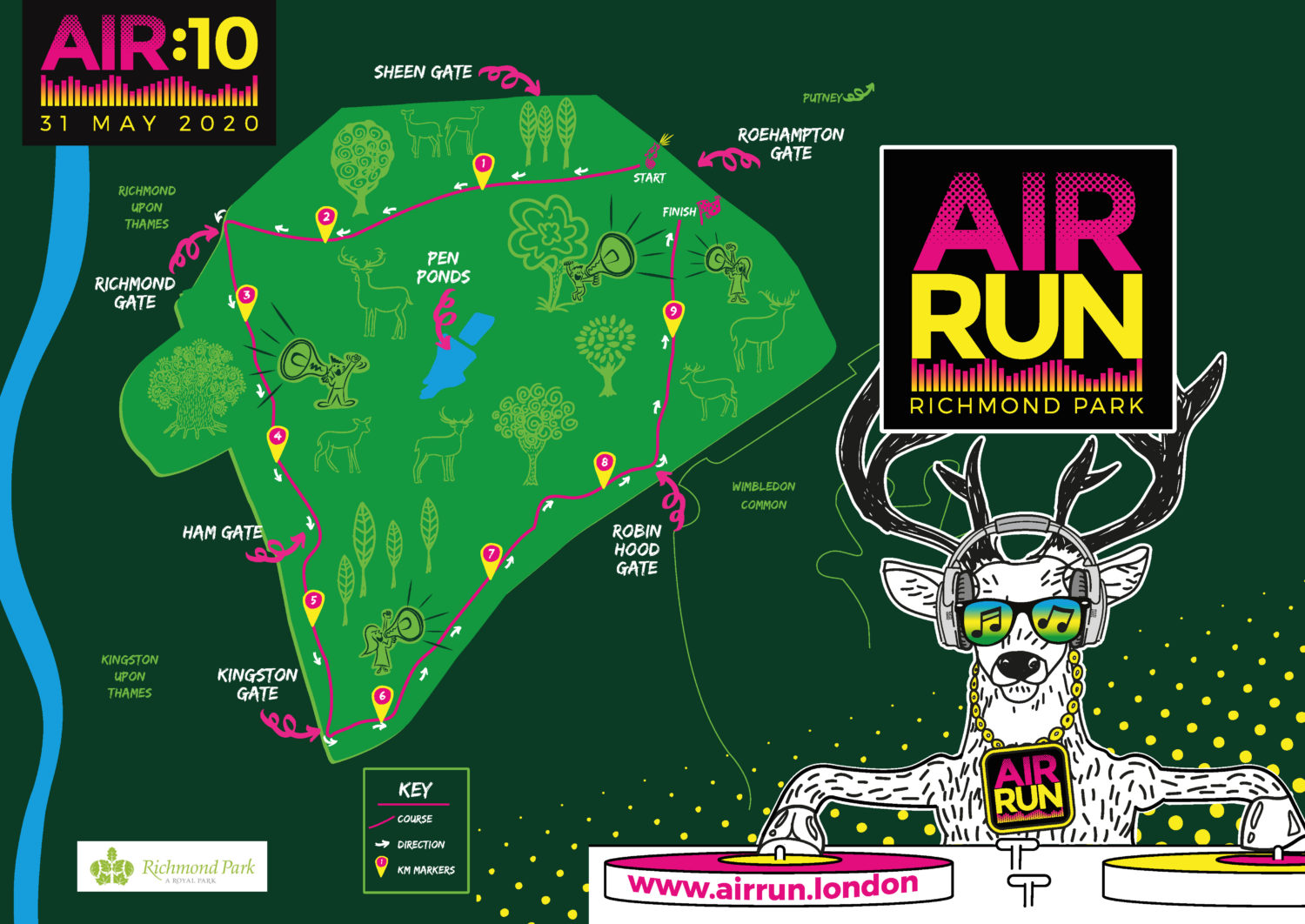 The map for the AIR RUN 10k