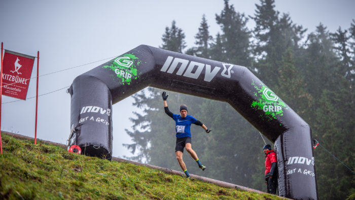 Men's winner Markus Wiltschnigg inov-8 descent race