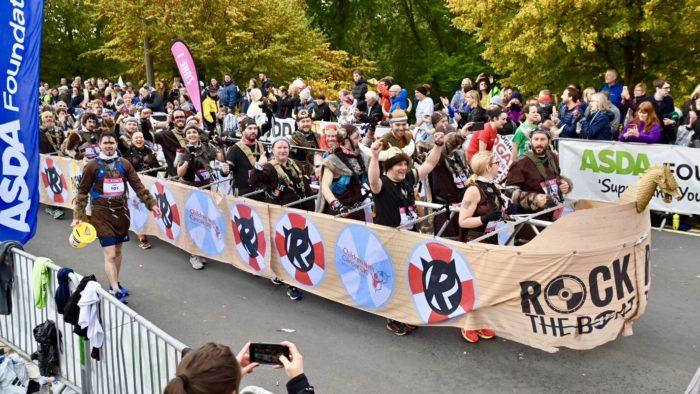 Viking boat Yorkshire Marathon