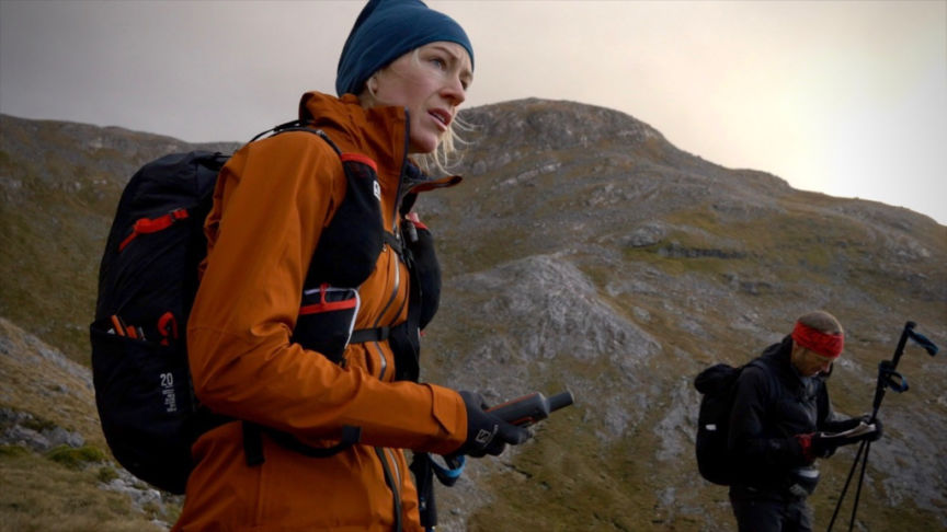 Beth Pascall and Damian Hall on Cape Wrath Trail