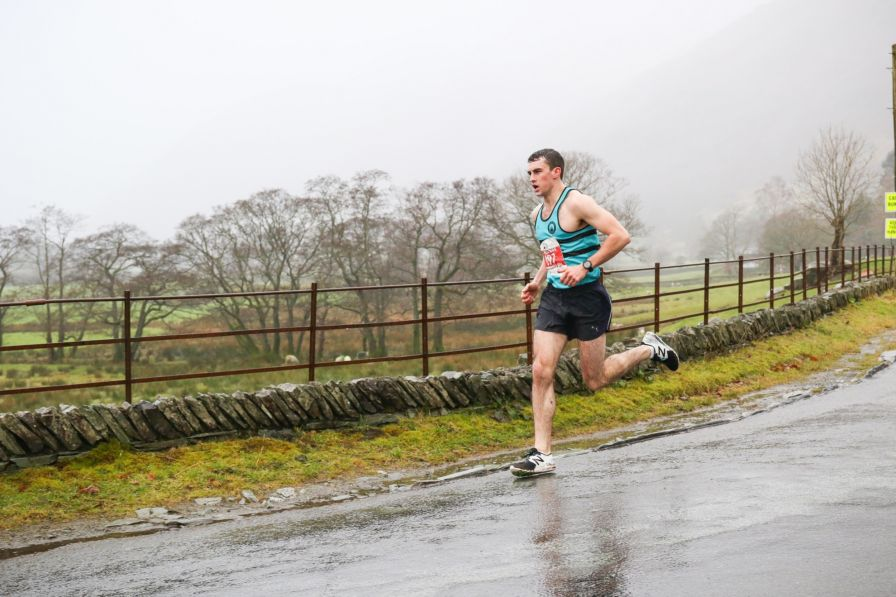 Pete Harrison winner of Langdale Christmas Pudding Race