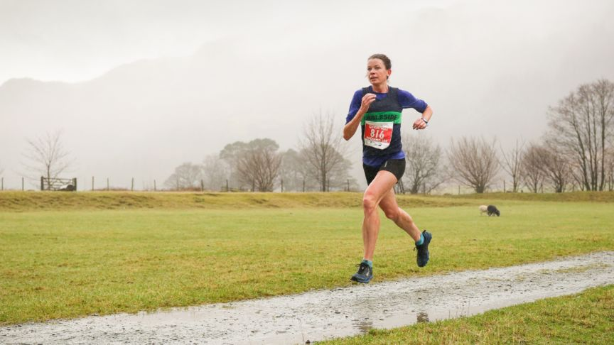 Sarah McCormack at 2019 Langdale Christmas Pudding Race