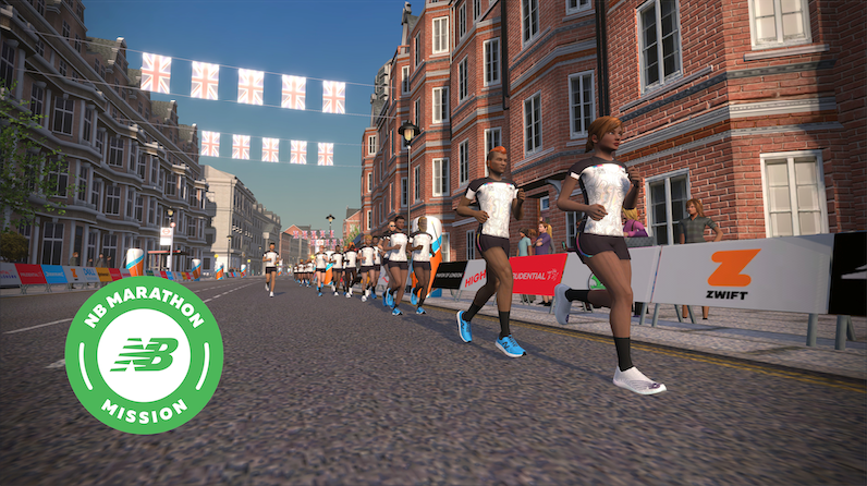 Zwift London Marathon competition