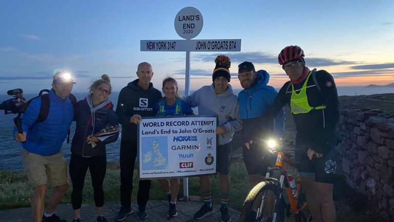 Carla Molinaro broke the ladies Guinness World Record for LEJOG (Land's End to John O'Groats)