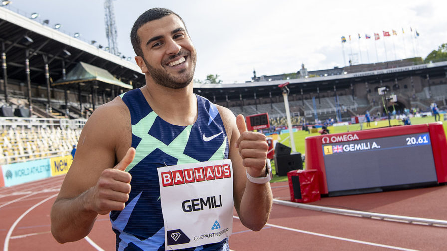 Adama Gemili in the 200m