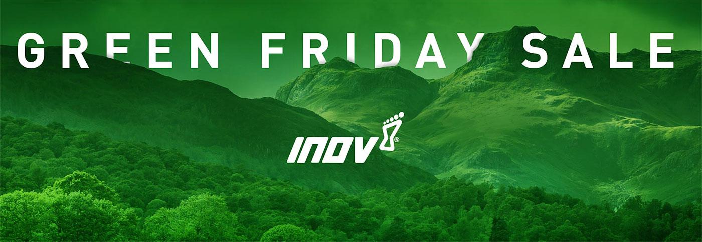 inov-8 Turned Black Friday Green and